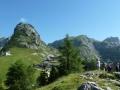 Blick von der Bergstation auf Gsöllkopf & Co