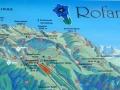 Panoramakarte mit Tourenmöglichkeiten bei der Seilbahn-Bergstation