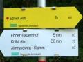 Markierung am Parkplatz Ebneralm