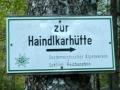 Abzweigung Haindlkarhütte
