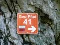Markierungen des Geopfades