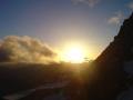 Sonnenuntergang auf der Adlersruhe