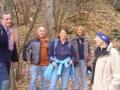 Gruppe beim Einstieg Hanselsteig