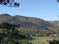 Blick vom Dreistundenweg zum Husarentempel und zur Meiereiwiese