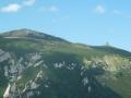 Blick vom Krummbachstein zum Klosterwappen