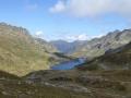 Ahkarscharte: Blick zum Giglachsee
