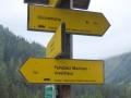 Weg vom Parkplatz Muritzen zur Sticklerhütte