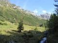 Aufstieg von der Vögeialm zum Oberhüttensee
