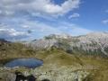 Blick vom Tauernhöhenweg zurück zu den Kalkspitzen