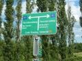 Wegweiser Thermenradweg