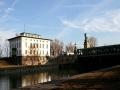 Die Wehr- und Schleusenanlage am Beginn des Donaukanals ist eines der Meisterwerke Otto Wagners