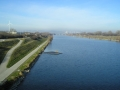 Blick donauaufwärts auf die Donauinsel