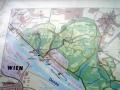 Übersichtskarte der Oberen Lobau am Beginn des Nationalparks Donauauen
