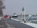 Aufwärmen auf der Donaupromenade