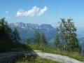 Abstieg mit Blick auf den Untersberg