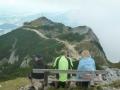 Blick vom Salzburger Hochthron zur Bergstation der Untersbergbahn