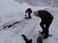 Schneeschuhe anlegen