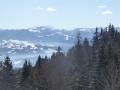 gegenüber das Bucegi-Gebirge