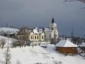 Blick zurück zur Kirche Magura