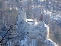 der 1. Blick auf die Törzburg (Draculaschloss)