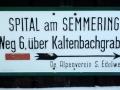 Wegweiser Kaltenbachgraben
