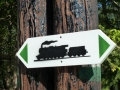 Markierung Bahnwanderweg