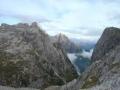 Blick zurück zur Zsigmondy-Hütte und hinaus Richtung Fischleintal