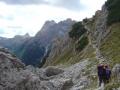 Abstieg zu den Rotwandwiesen