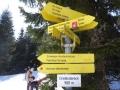 Wegweiser am Dreiländereck