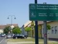 Radwegmarkierung in Zurndorf