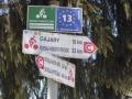 """Wegweiser Radweg """"Eiserner Vorhang"""""""