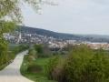 vor uns Großhöflein und das Leithagebirge