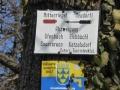 Markierung NÖ Landesrundwanderweg über die Rosalia