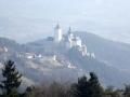 Blick auf die Burg Forchtenstein
