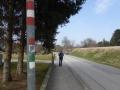 Weg entlang der Bahn in Bad Sauerbrunn