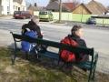 Ziel: Parkplatz bei der Kirche in Pöttsching