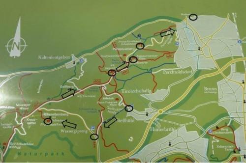 Karte Föhrenberge
