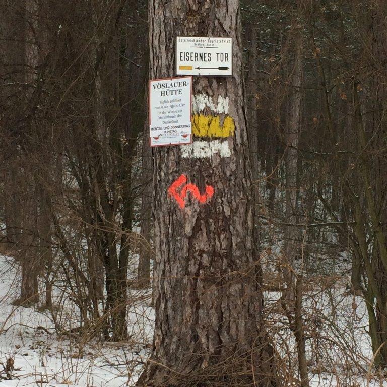 Markierung Eisernes Tor