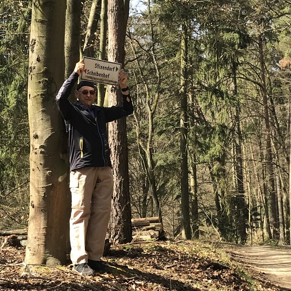 Abzweigung vom Welterbesteig nach Stixendorf