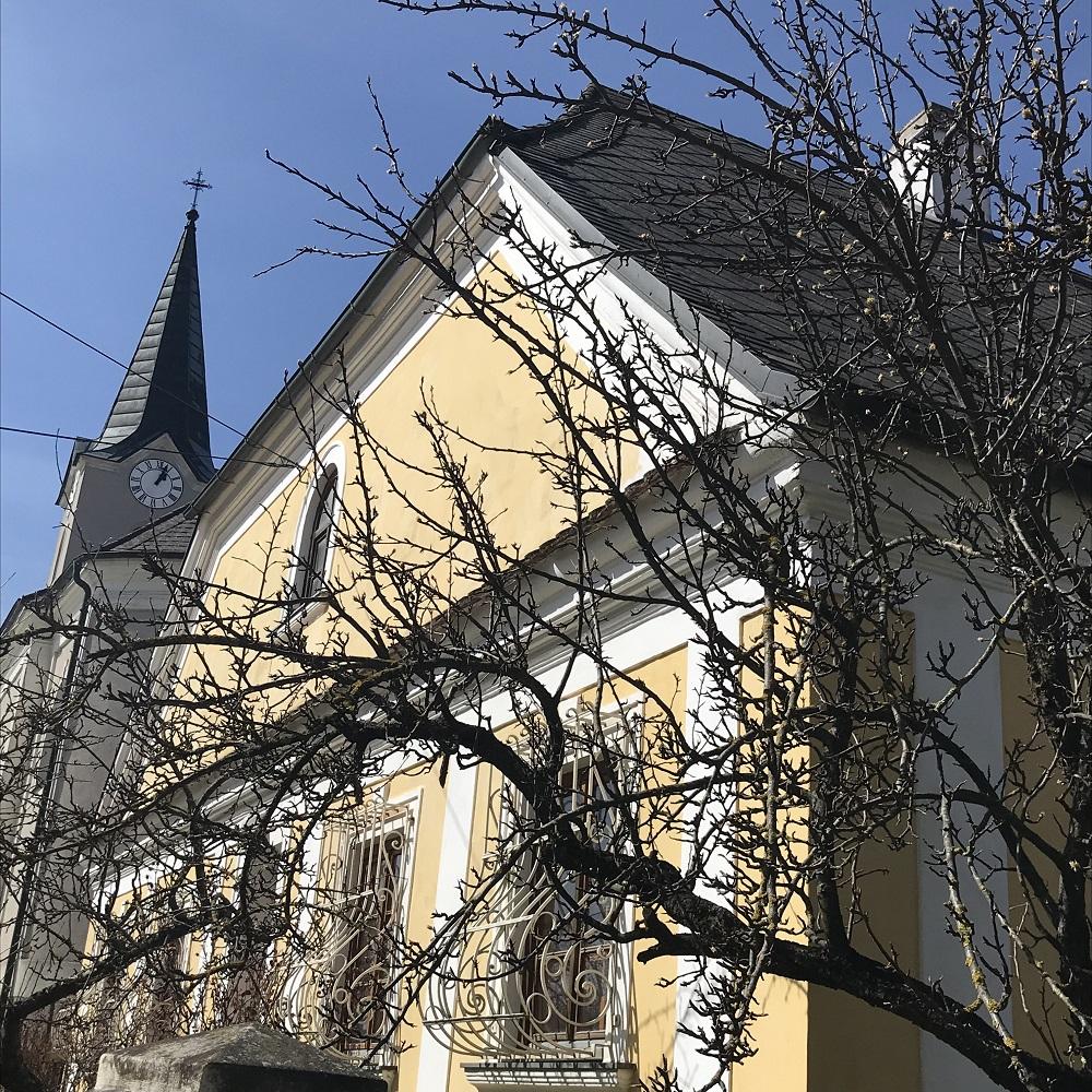 Pfarrhof und Kirche Weinzierl am Walde
