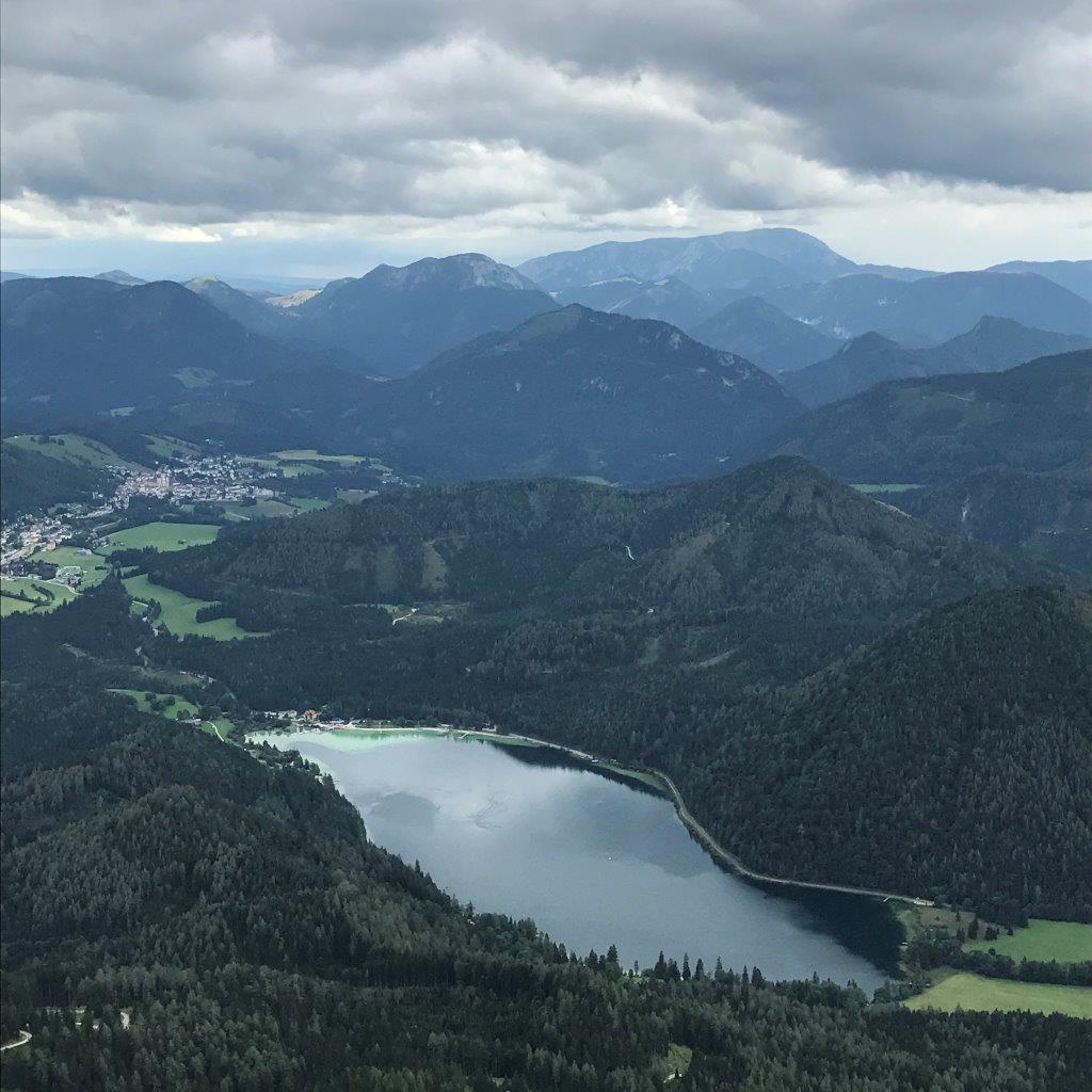 Blick von der Gemeindealpe auf den Erlaufsee