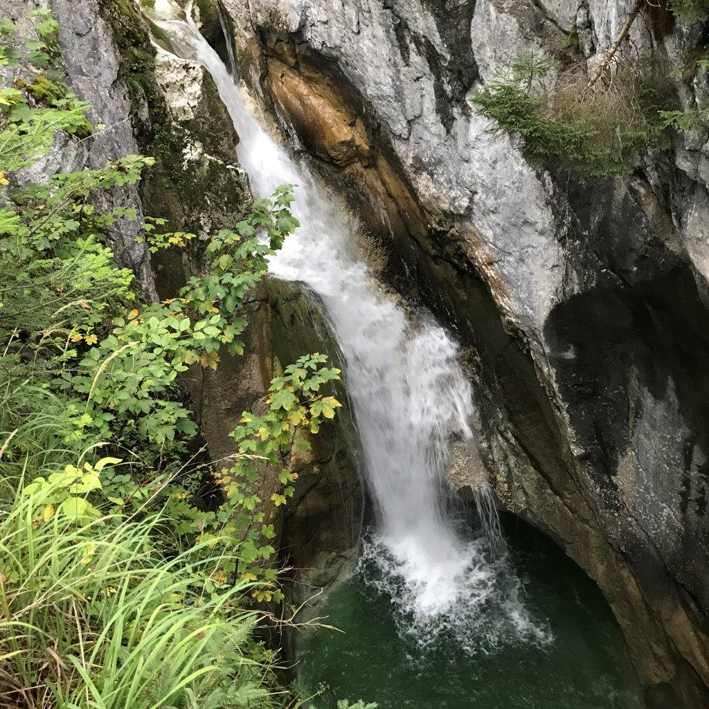 Der Kleine Wasserfall beim Tatzelwurm