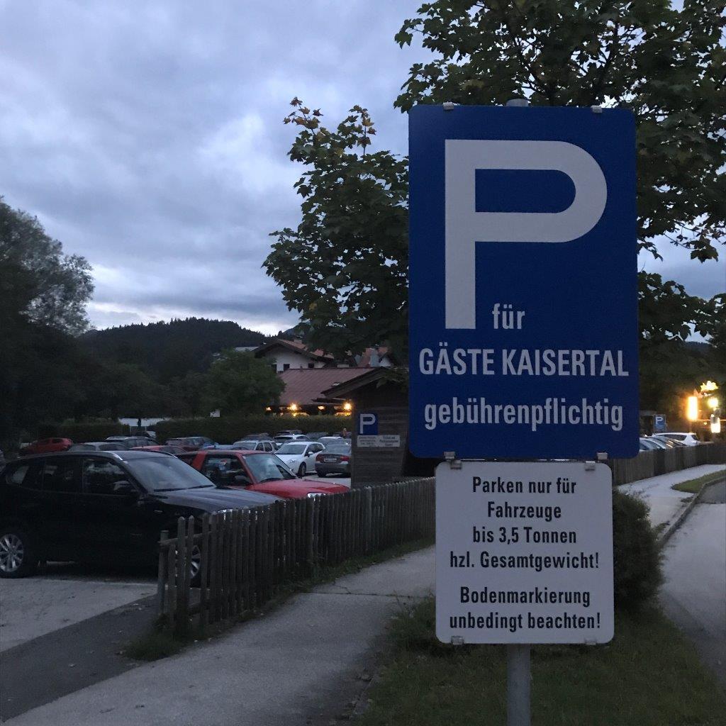 Parkplatz Kaisertal