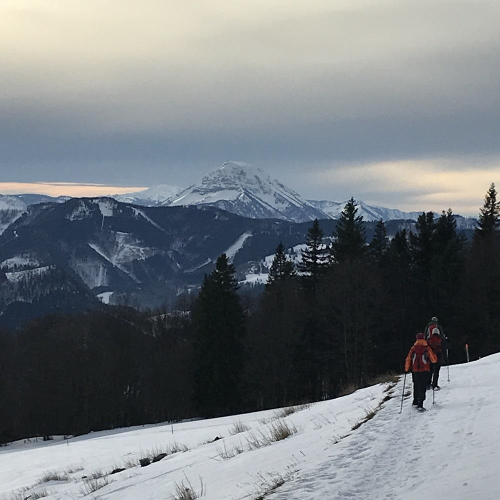 Abstieg mit Ötscherblick
