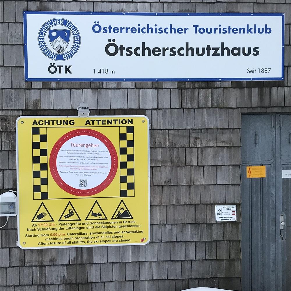 das Ötscherhaus ist ausserhalb des Liftbetriebes nicht geöffnet
