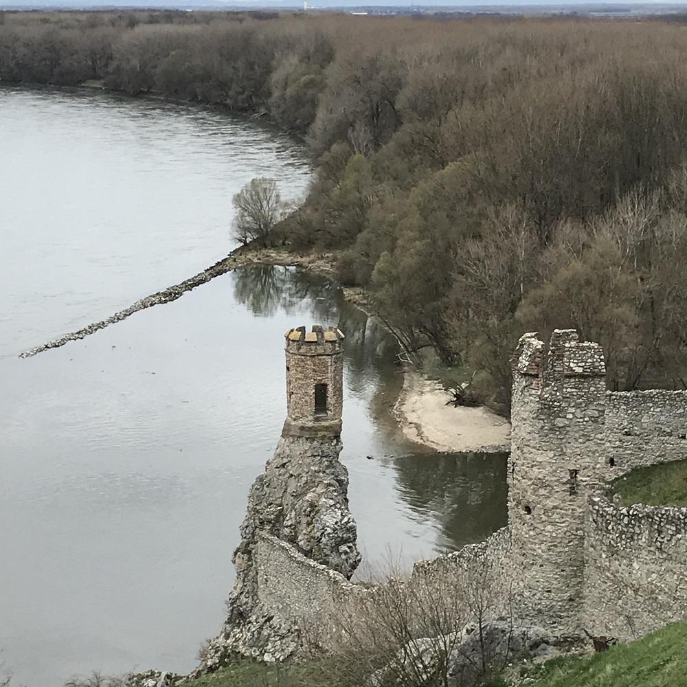 Blick von der Burg Devin zur Marchmündung