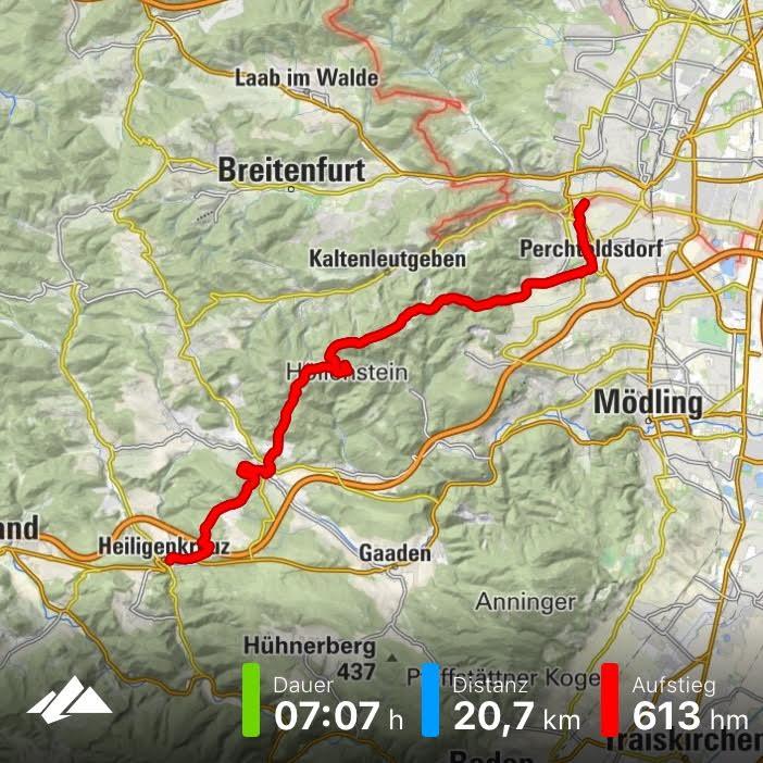 Tracking Bergfex - von Heiligenkreuz nach Perchtoldsdorf