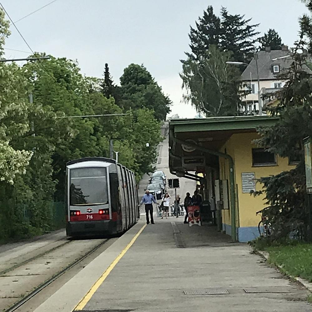 Endstelle Straßenbahnlinie 60 in Rodaun