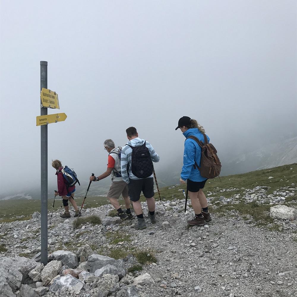 Abstieg auf dem markierten Weg zur Kientalerhütte