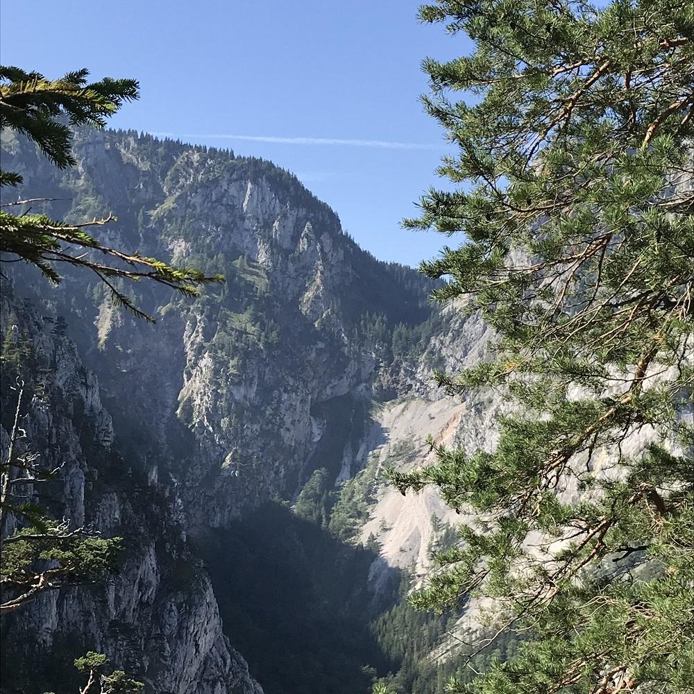 Aussichtspunkt ins Große Höllental - Blick zum Gaisloch